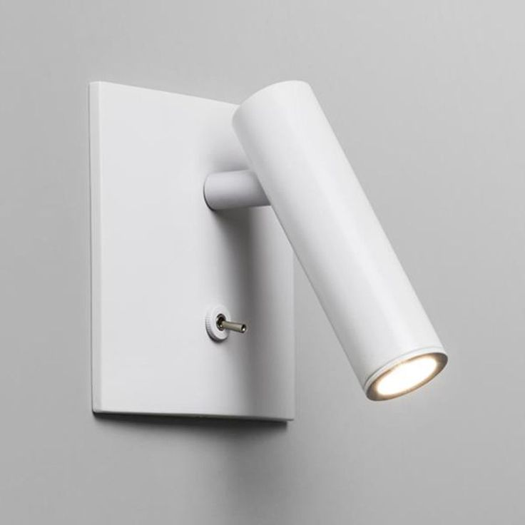 Bedside Reading Lights - The Enna Square LED Reading Light is Switched and comes in a White Finish. Position next to your Bed for a Perfect Light for Night Time Reading. Astro 7360