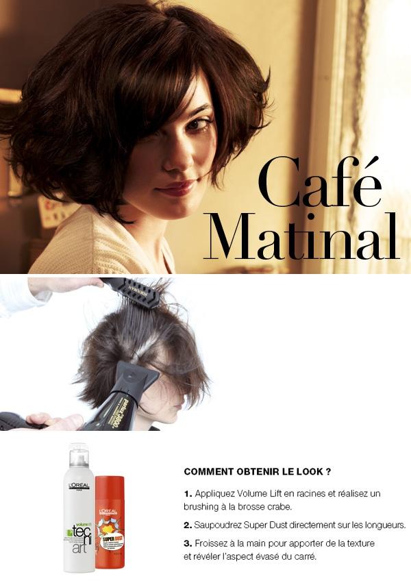 """Look """"Café matinal"""" par le coiffeur Andrew Mulvenna - L'Oréal Professionnel"""
