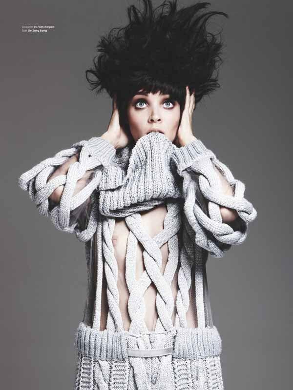 Contemporary Knitwear Design - grey knitted dress // Iris Van Herpen