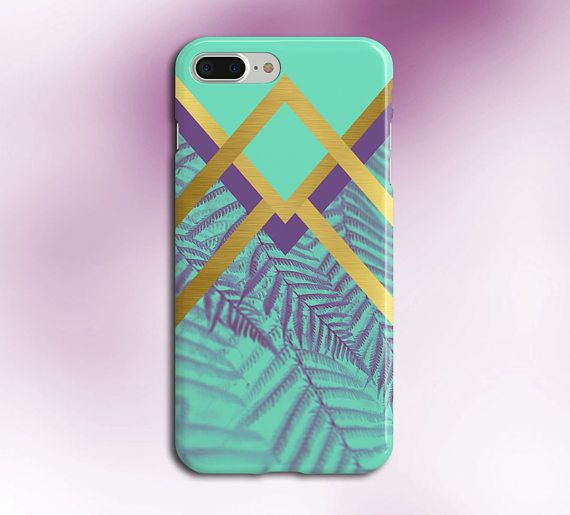 Faded Chevron Purple x Gold Palms Phone Case for iPhone and Samsung