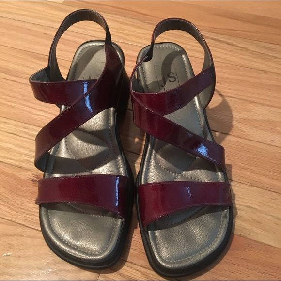 Josef Seibel Sandals Size 38 Burgandy sandals by Josef Seibel. Worn only once or twice, great condition! josef seibel Shoes Sandals