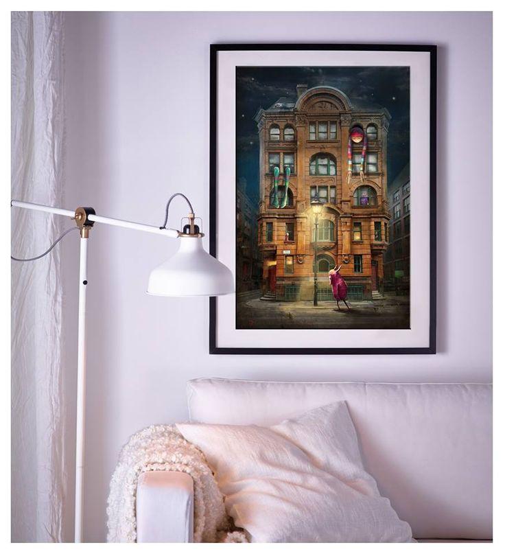"""Nightmare On Dale Street"" Matylda Konecka, framed print. www.matyldakonecka.com"