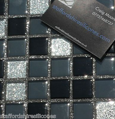 glitter grout ready mixed wall floor mosaic cheap tiles showers wetroom bathroom #GlitterGrout