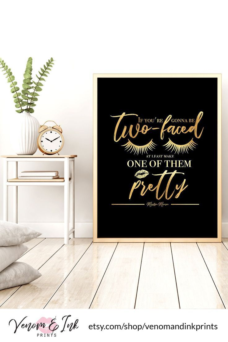 Marilyn Monroe Quote Wall Art Black And Gold Printable Black And Gold Print Black And Gold Decor Black And Gold Wall Art Gold Foil Print Silver Wall Art Gold Wall Art Wall
