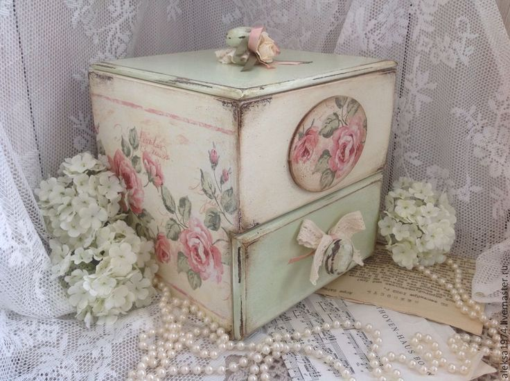 "Boxes handmade. Fair Masters - handmade. Buy More shkatulka- komodik ""Tenderness of roses."" Handmade."