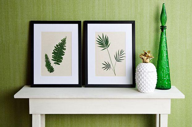 Faça você mesmo. Decoração com folhas. Decoração Natural. Quadros na decoração. Quadros de folhas. Quadros na mesa. Moldura. Folhas secas.