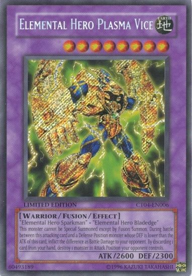 Elemental Hero Plasma Vice HOLO YUGIOH CARD