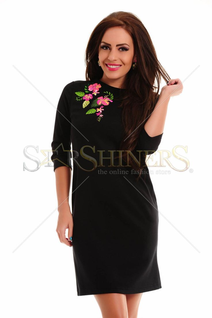 StarShinerS Brodata Exotic Black Dress