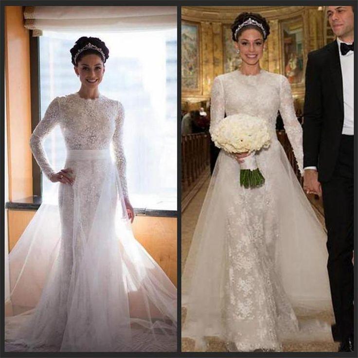 Lace Prom Dress,Long Sleeve Prom Dress,Fashion Bridal Dress,Sexy