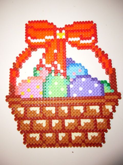 Easter basket perler beads by A. F.  - Perler® | Gallery