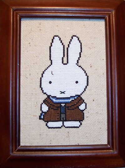 Miffy-Netherlands Cross Stitch by chujo-hime