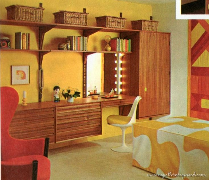 Some Fantastic 1970 S Rooms That Cause Some Serious Shelving System