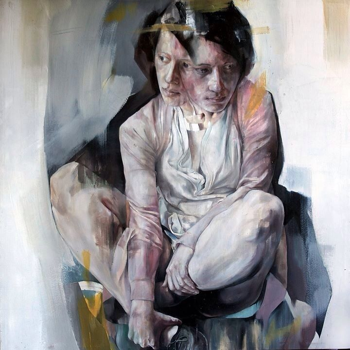 beng-art: Flat ego  I could be who you wanted - 100cm x 100cm - Oil on canvas