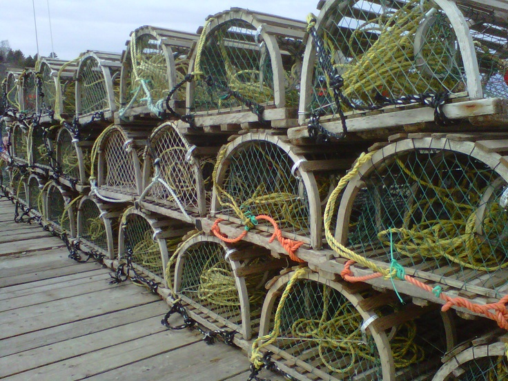 Lobster Traps outside of Halifax, Nova Scotia
