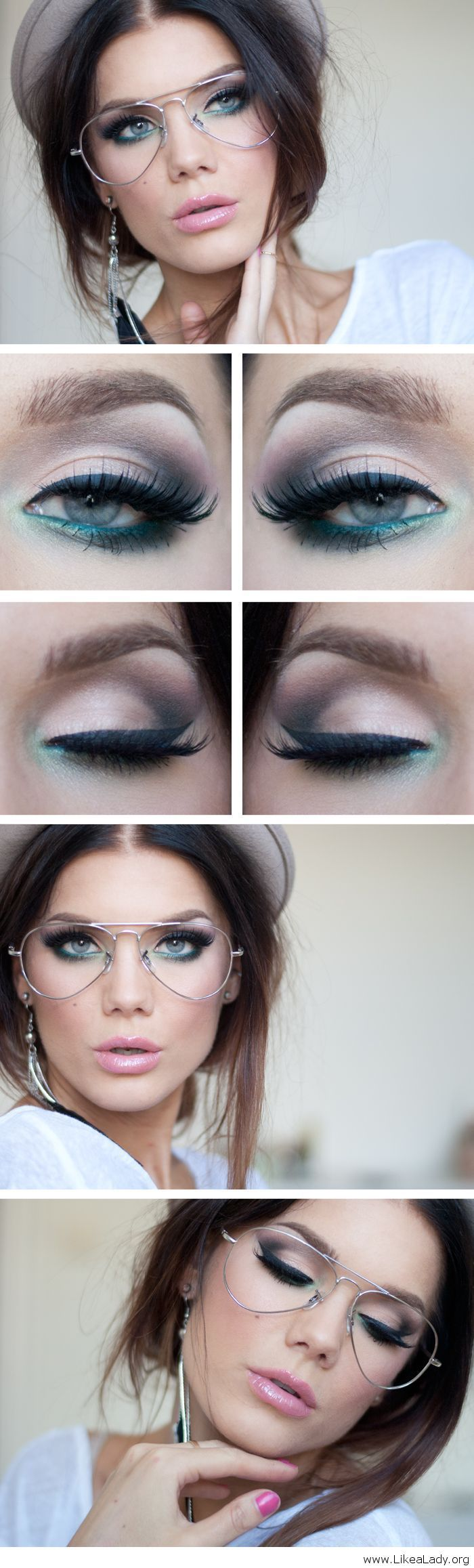 Amazing makeup for girls with glasses