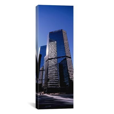 "East Urban Home Panoramic Key Bank Building Denver, Colorado Photographic Print on Canvas Size: 60"" H x 20"" W x 0.75"" D"