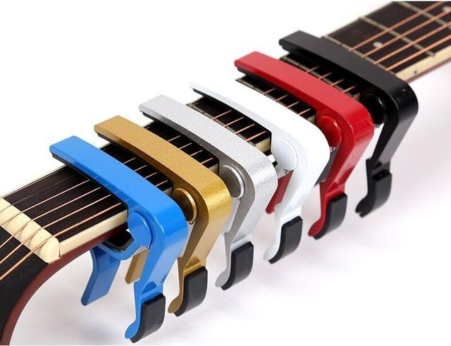 2019 High Quality Aluminium Alloy Metal New Guitar Capo Quick Change Clamp Key Acoustic Classic Guitar Capo For Tone Adjusting Classic Guitar Guitar Capo Capos