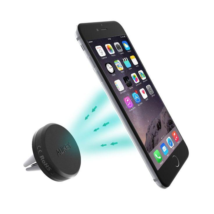 Aukey 360 градусов универсальный автомобильный держатель магнитный вентиляционное отверстие док держатель мобильного телефона Смартфон на Алиэкспресс русском языке рублях