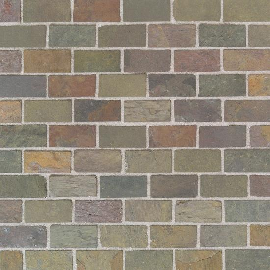 India Multicolor Brick Joint - Tumbled Slate by American Olean
