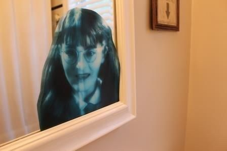 Use your printer to put Myrtle where she is definitely not wanted. | 33 Cheap And Easy Ways To Throw An Epic Harry Potter Halloween Party