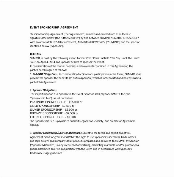 24 Event Sponsorship Proposal Template In 2020 Sponsorship