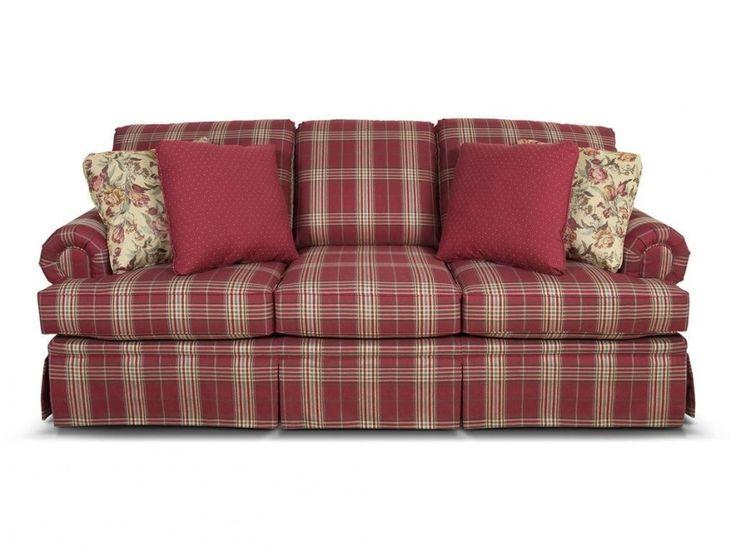 Red Plaid Sofa