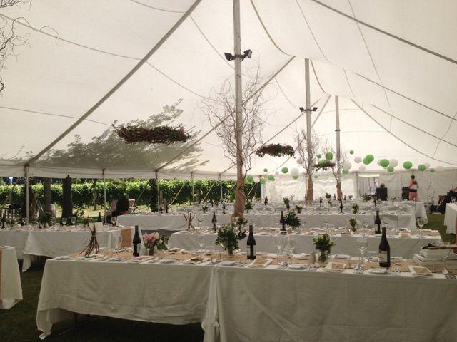 Electron Marquee - Internal wedding setup
