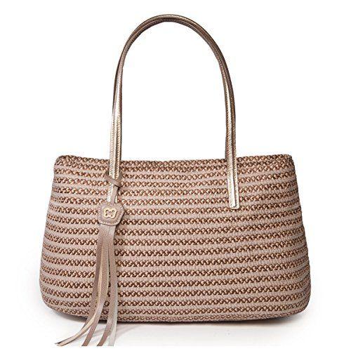 Eric Javits Women's Luxury Dame Brooke Handbag (Bark)