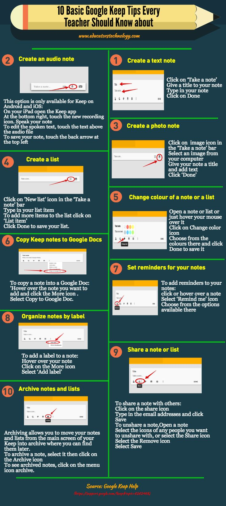 10 Basic Google Keep Tips Every Teacher Should Know about...