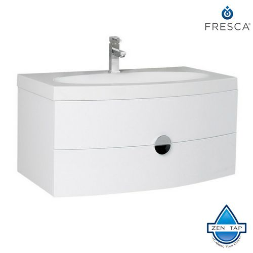 Fresca Energia Orange Modern Bathroom Cabinet w/ Integrated Sink