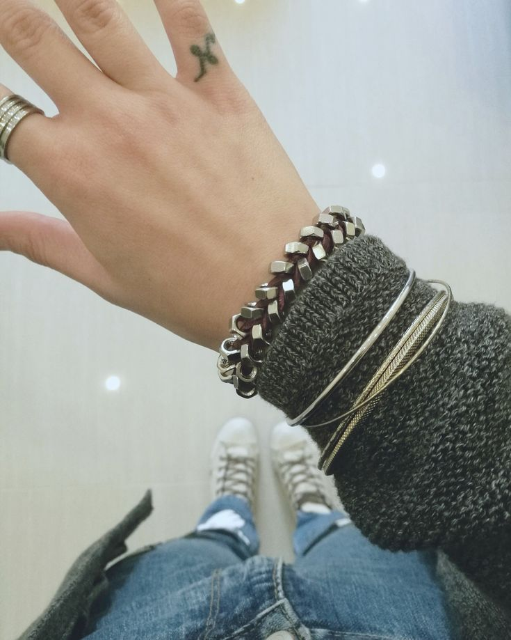 Hex nuts bracelet for a glam rock look!