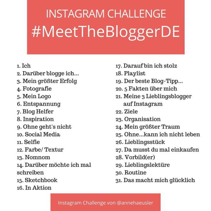 Du willst neue Blogs kennen lernen, den eigenen Blog promoten und nebenbei auf Instagram neue Kontakt knüpfen? Dann mach ab dem 1. Mai mit bei der Instagram Challenge #MeettheBloggerDE