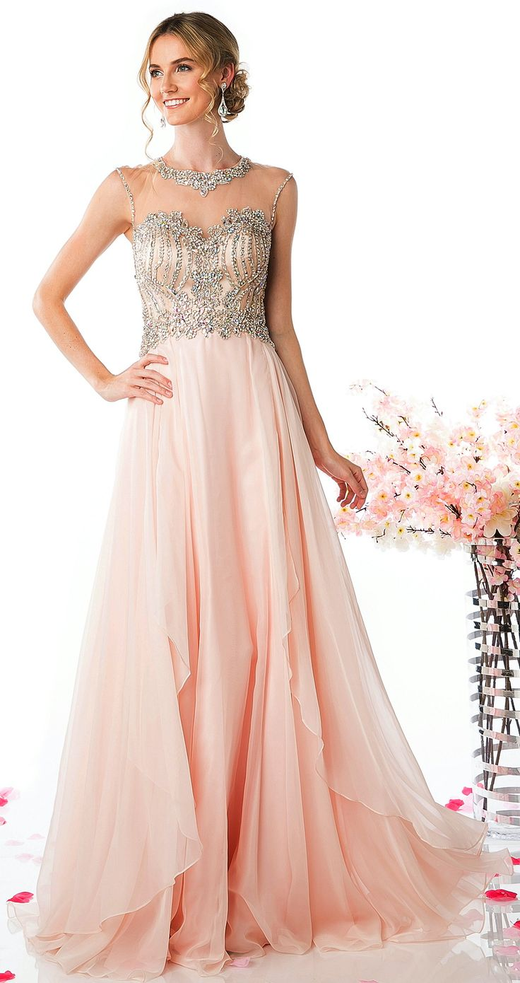 Prom Dresses Evening Dresses<BR>add8791<BR>Sheer illusion scoop neckline, sweetheart bodice with pattern of beads and stones
