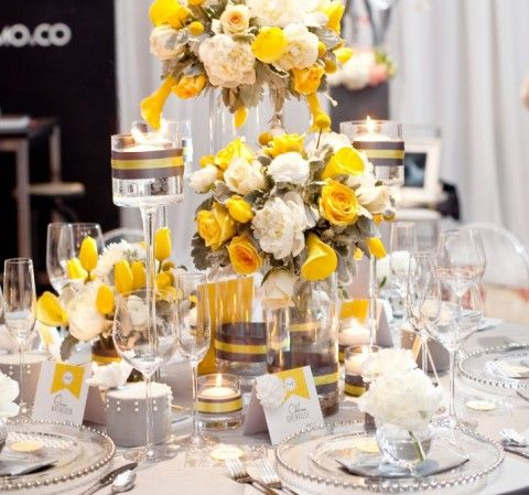 yellow and gray wedding decorations 7 best images about grey and yellow wedding decor on 1506