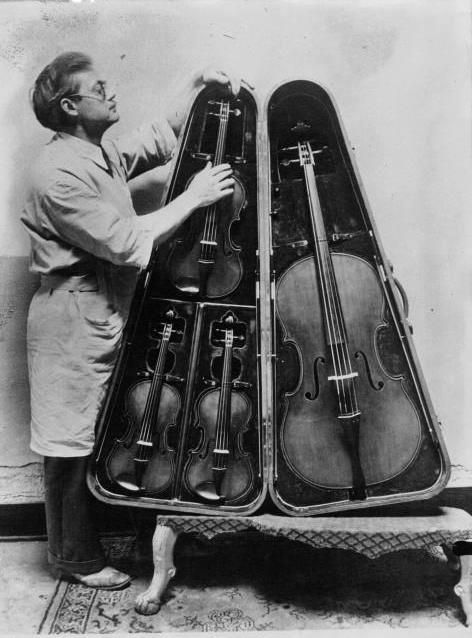Two violins, a viola and a cello...wow! An Ensemble in one case-- it's so beautiful I want to cri