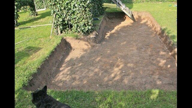 Terras grond afgraven