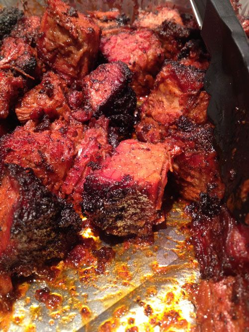 Brisket Burnt Ends Ready to be Devoured