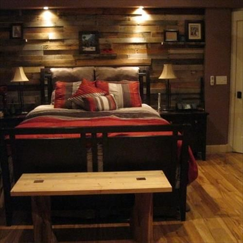 1000+ Ideas About Pallet Wall Bedroom On Pinterest