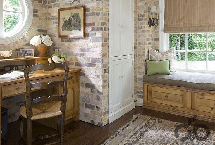 eskitilmiş tuğla duvarlar ile klasik home ofis dekorasyonu – DekorBlog