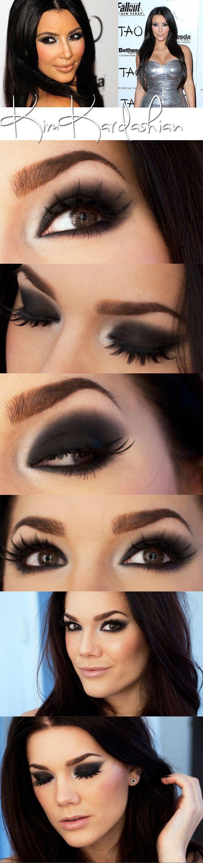 Today's look inspired by Kim Kardashian ~ Linda Hallberg, makeup artist....Like but in darkest brown