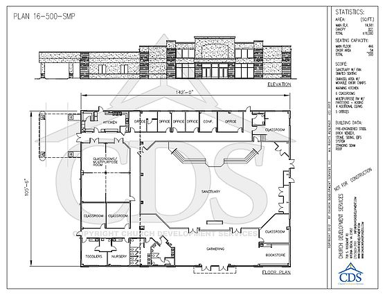 Church floor plans with 450 599 seats church for Floor plan church