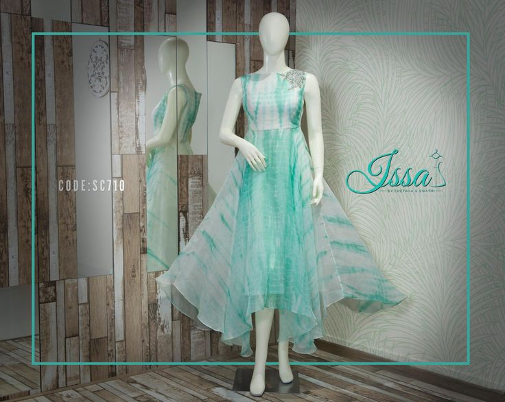 SC710: White and sea green tunic from Issa!!  To order please call/ WhatsApp on 9949944178 or mail us @issadesignerstudio@gmail.com 01 August 2016