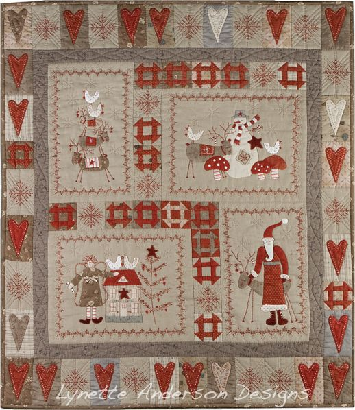 Scandinavian quilt pattern by Lynette Anderson-love the pattern, love the fabrics