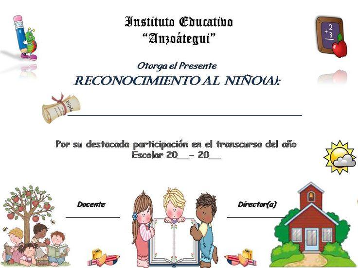 Resultado de imagen para diplomas para editar de primaria