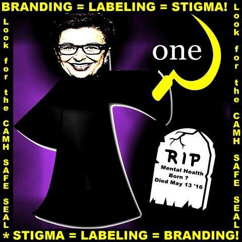 #CAMH CEO Catherine Zahn #One #Brave #Night #DefeatDenial #EndStigma?!  #Branding #Labeling!  #Safe?!  #Death!  #Parkdale #QueenWest #Toronto #Mental #Ilness