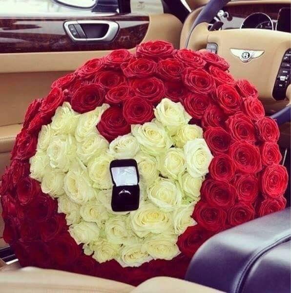Rose rosse bianche ring cuore vita amore love