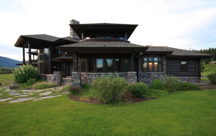Another view of this handcrafted log home on Whitefish Lake.