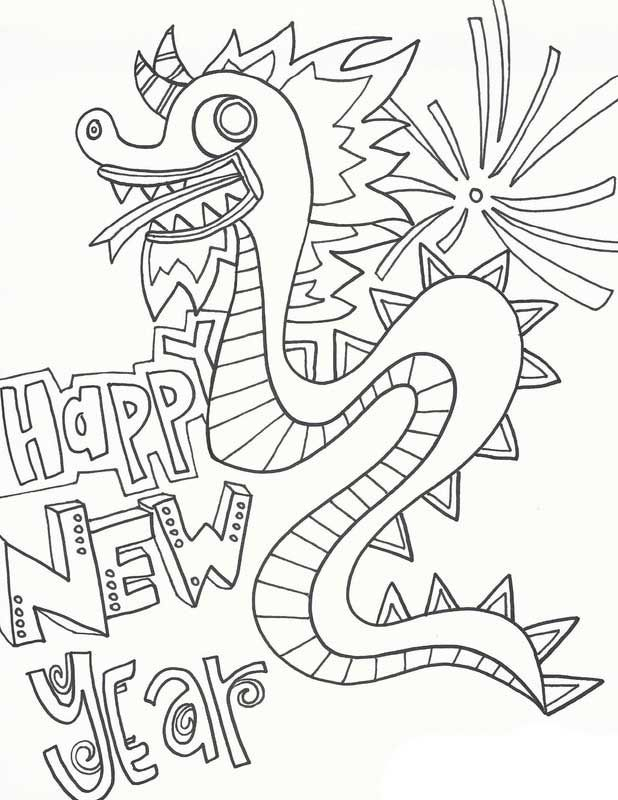 Free Printable Happy Chinese New Year Coloring Page New Year Coloring Pages Coloring Pages Cartoon Coloring Pages
