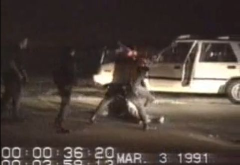 March 3, 1991 – An amateur video captures the beating of Rodney King by Los Angeles police officers.