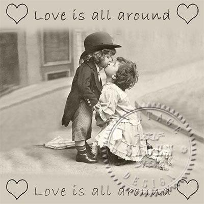 Love is all around - Middagsservett